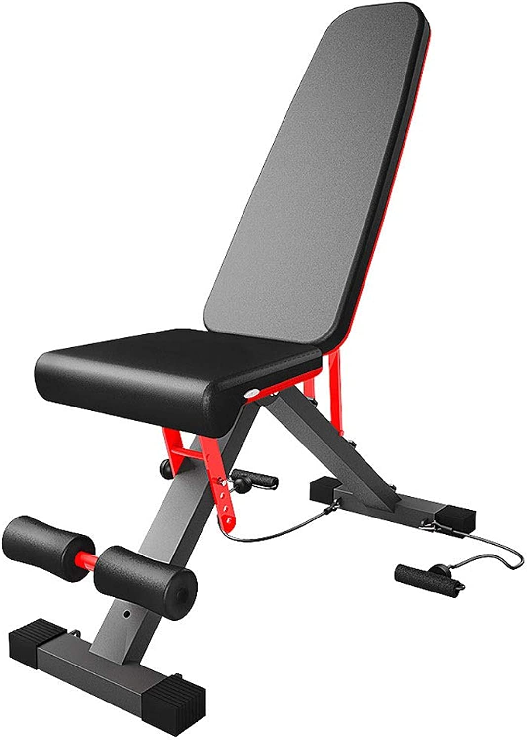 Multifunction Weight Bench Dumbbell Bench Flat Bench Abdominal Aid Sit Up Bench Home Gym Exercise Equipment Flying Bird Chair with 6 Gear Adjustable Backrest and Drawstring