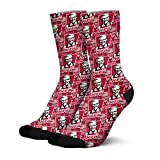 Unique KFC-Red- Men's Winter Warm Funny Fuzzy Novelty Thick High Socks Hiking Running Comfy Tall Cotton Crew Socks