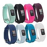 Bracelet de montre de remplacement avec fermoir Fit-power souple en silicone pour Garmin Vivofit 3Fitness Bande (Pas de tracker), 9 Colors