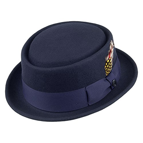 Jaxon & James Chapeau Pork Pie Déformable Bleu Marine Large