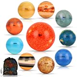 Solar System Stress Ball for Kids and Adult 10 Piece, with mesh Storing Bag, Anti Stress Solar Planets Balls (Planet Balls)