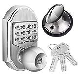 Bravex Keyless Deadbolt Door Lock Stainless Steel Digital Combination with Key - 100%