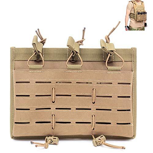 LRKZ Pochette de Magazine,Titulaire Tactique Molle Triple Open Mag-Top Pouch, Stacker Et Pistol Mag Pouch pour Les Magazines AK M4,Mud,2PCS
