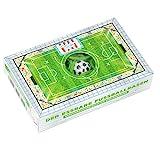 Essbarer Fußballrasen Box, 75 g grüne Fruchtgummi Schnüre mit Apfelgeschmack und Fußball Kaugummi, cooles Geschenk für alle Fußball-Fans