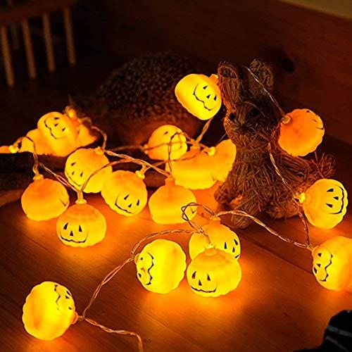 SONGSH Canciones Calabaza Luces 1M / 2M / 3M de Halloween Luces del jardín LED Familia Fiesta de Halloween Reuniones Luces Decorativas Suministros de Vacaciones (Wattage : 2M 20 Leds)