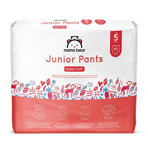 Marque Amazon - Mama Bear Couches-culottes Junior - Taille 5 (13-20kg), Lot de 2 (2x40)