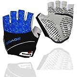ROVOS Mountain Bikes Gloves Men Half Finger 3D Gel Bikes Gloves Breathable Cycling Gloves (Royal Blue, X-Large)