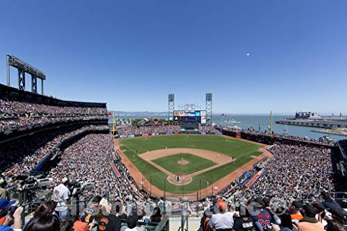 Historic Pictoric San Francisco, CA Photo - San Francisco Giants Baseball Team Plays The Chicago Cubs at AT&T Ball Park in San Francisco, California - 24in x 16in
