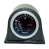 Cicony Medidor de presión Turbo Boost Vacuum Press para Auto Car 2'52mm 0~30in.HG / 0~30PSI Luz LED
