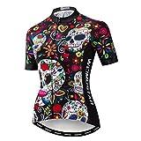 Weimostar - Maillot de ciclismo para mujer, ideal para modalidad de montaña y carretera (transpirable, manga corta), Mujer, 1, M