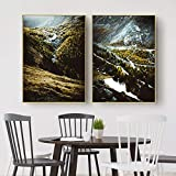 WKHRD Schweiz Poster Zermatt Nebelwald Bergdruck Landschaft