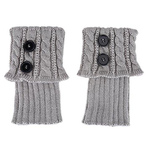 Boot Cuff Beinlinge, Winter Warm Crochet Gestrickte Boot Cuff Short Beinlinge für Mädchen und Frauen(3#)