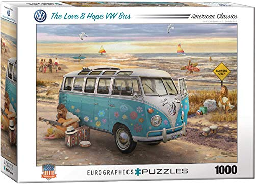 EuroGraphics The Love & Hope VW Bus, 1000 Teile Puzzle, Mehrfarbig