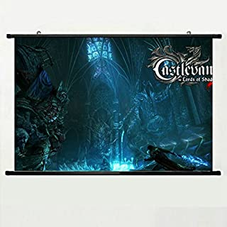 Wall Scroll Poster with Castlevania Lords of Shadow Count Dracula Satan Belmont Alucard Pc Playstationbox Home Decor Wall Posters Fabric Painting 23.6 X 15.7 Inch