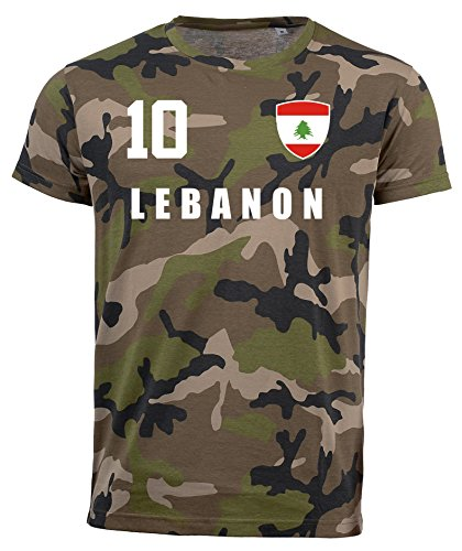 aprom Libanon Camouflage T-Shirt - All-10 - Trikot Army Look WM World Cup Lebanon (L)