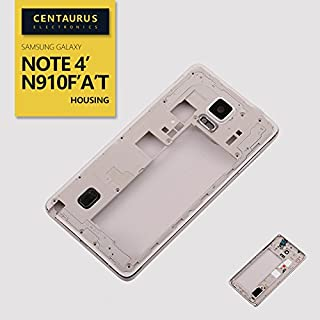 New Replacement for Samsung Galaxy Note 4 SM-N910F N910A N910T N910L N910S N910C N910K N910U Housing Middle Frame Cover Bezel White