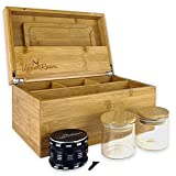 Upper Room Large Smell Proof Bamboo Stash Box Combo Kit with...