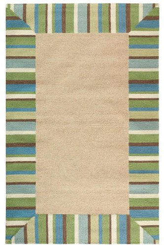 "Big Sale Panama Area Outdoor Area Rug Ii, 7'6""x9'6"", TURQUOISE"