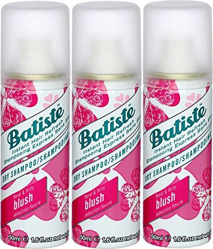 Batiste Trockenshampoo Dry Shampoo Mini, Frisches Haar für alle Haartypen, 3er Pack 2+1 (3 x 50 ml) (3er Blush 50ml)