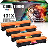 Cool Toner Remanufactured Toner Cartridge Replacement for HP 131A 131X CF210A CF210X for HP Laserjet Pro 200 Color MFP M276N M276NW M251N M251NW Canon i-Sensys LBP7100CN LBP7110CW MF8280CW MF8230CN