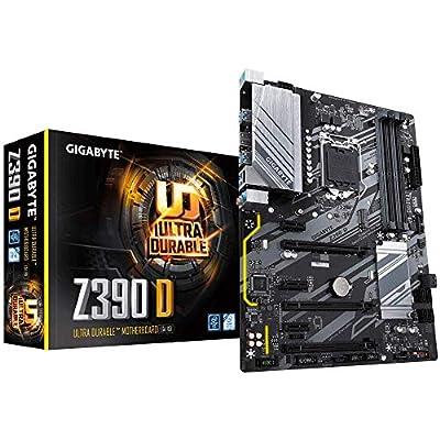 Intel Z390 D Motherboard with Advanced Thermal Design, ALC887, 2-Way CrossFire™X Multi-Graphics, GIGABYTE GAMING LAN, Smart Fan 5, NVME PCIe Gen3 x4 22110 M.2, CEC 2019