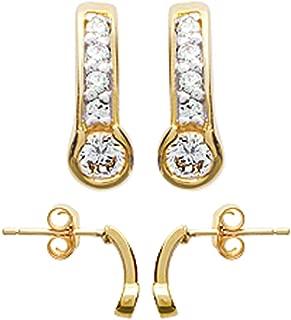3 Paire Femmes Hommes En Acier Inoxydable perles CALIN Boucles d/'oreilles Créoles 8 mm 10 mm 12 mm
