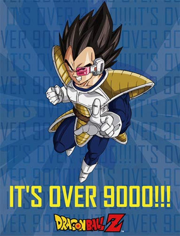 Great Eastern Entertainment Blanket  Dragon Ball Z  It's Over 9000  Vegeta New Fleece Throw ge57831