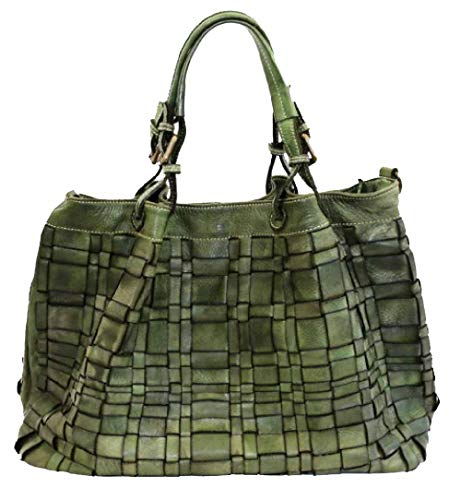BZNA Bag Marta grün Italy Designer Damen Handtasche Schultertasche Tasche Schafsleder Shopper Neu