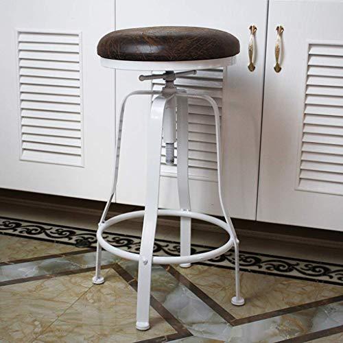 QNN Schreibtischstuhl, Vintage Industrial Barhocker Höhenverstellbarer Drehbarer Metallsitz Küche Frühstück Barhocker Stuhl,B.