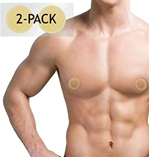 Confidence Bodywear – Areola Cover Stickers – Discreetly Conceal Male Nipples – Instant Gynecomastia Treatment - Comfortable To Wear - For A Flatter, Masculine Chest - (2 Pack - 100 Covers)