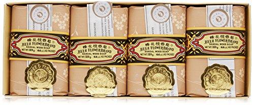 Bee & Flower Sandalwood Soap, 4.4 Oz (Pack of 4)