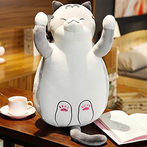 47-B Peluche Forma Super Soft Cuscino Gatto (Color : Gray, Size : 65cm)