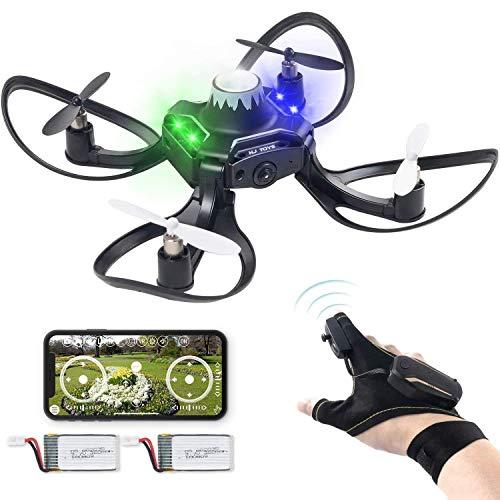 YAMMY Control de Gestos Drone 2.4G 6 Axis 480 HD FPV Cámara Mini RC Quadcopter con retención de altitud, función de Sensor de Gravedad Outd (Coche RC)