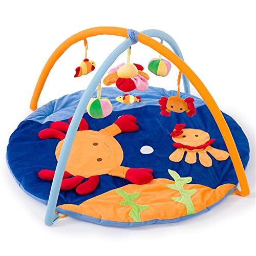 ZXJ Estera del Juego del Bebé Juego Infantil Gimnasio Manta con 5 Juguetes Colgantes Extraíbles Alfombrillas De Juego De Actividades para Bebés para Niños Y Niñas De 0-3-6-12 Meses