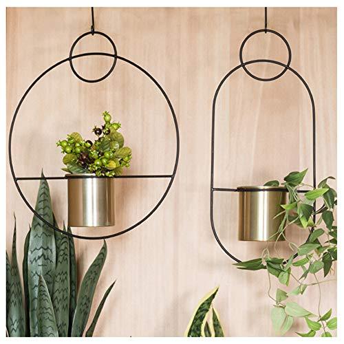 DASGF Plantenrek, bloemenrek, voor in de tuin, zwart metaal, eenvoudige vorm