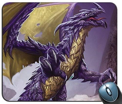 Yanteng-Mauspad, lila Dragon personalisierte Rechteck-Mauspad, gedruckt Rutschfeste GummiPersonalise Computer-Mauspad
