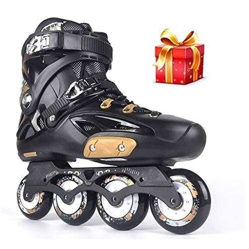 Patines en línea Rodillo Ajustable Zapatos de rodillos de profesional patines patines patines en línea de slalom velocidad patines en línea de patinaje libre Patines deslizantes Protección Completa
