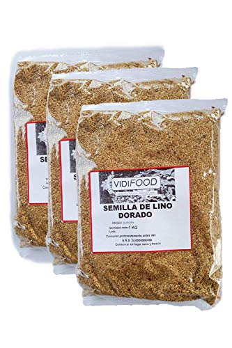 Goldene Leinsamen - 3kg - reichhaltige Quelle an Omega-3-Fettsäuren, Ballaststoffen und Nährstoffen -100% natürliche Vollkorn-Leinsamen