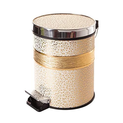 LYM Maison & Cuisine Poubelle - Protection de l'environnement créative Style européen Cuisine Salon Mode Pédale Santé Nettoyage Seau (Taille : 10l)