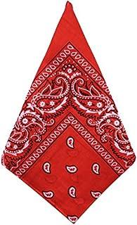 ZUMUii Men's Neckerchief red red