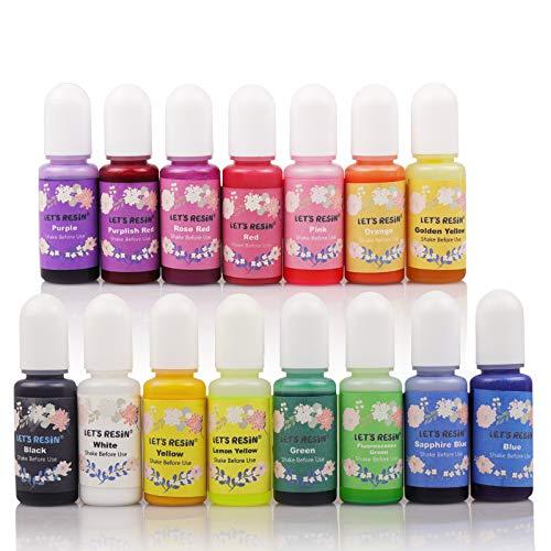 LET'S RESIN Epoxy Resin Dye,15 Colo…