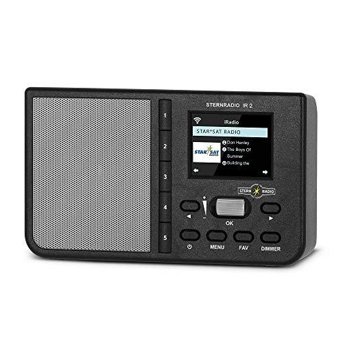 TechniSat Sternradadio IR 2 - Radio por Internet (Wi-Fi, Pantalla a Color, Despertador, Temporizador, AUX, repetición de Alarma, Teclas de selección Directa, Control de aplicación), Color Negro