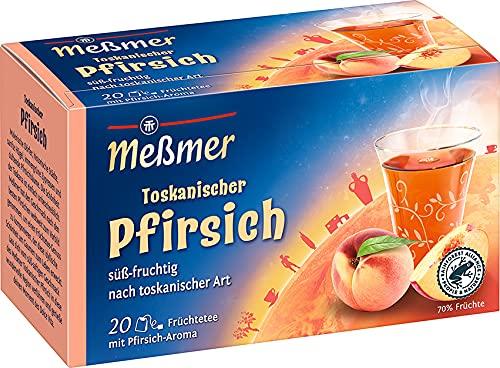 Meßmer Ländertee | Toskanischer Pfirsich Tee | 20 Teebeutel | Glutenfrei | Laktosefrei | Vegan