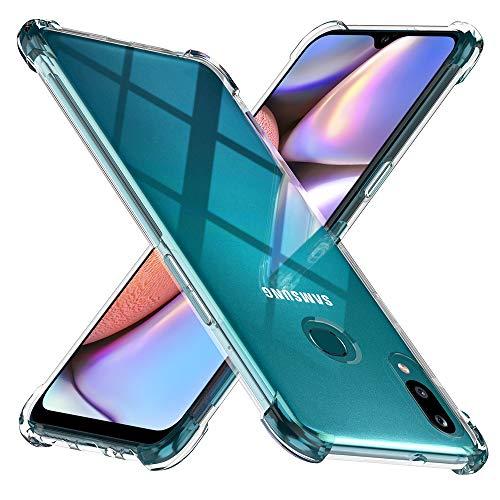 TesRank Coque Samsung Galaxy A10s, Ultra Mince Premium TPU Silicone [Anti-dérapante] [Poids léger] [Shock-Absorption] Housse Etui pour Samsung Galaxy A10s-Transparent
