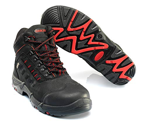 Mascot Kenya Sicherheitsstiefel S3 Arbeitsschuhe F0025-901 - Footwear Classic Herren 41 EU Schwarz/Rot
