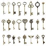 Pulluo 24pcs Vintage Deko Schlüssel