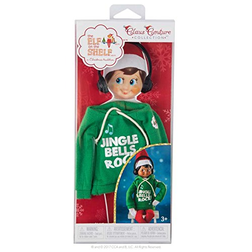 the ELF on the SHELF Claus Couture Jingle Jam Hoodie Novelty, Green