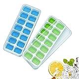 Vaschetta porta ghiaccio, Gxhong senza BPA con coperchi antiscivolo - Vaschetta porta ghiaccio in silicone, perfetta per acqua, cocktail e bevande - Impilabile e lavabile in lavastoviglie.