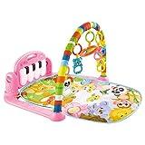 Shanji Alfombra de juego para bebés de 0 a 3 a 6 a 12 meses de actividad en el gimnasio de la selva, tapete de tiempo con piano recién nacido juguete