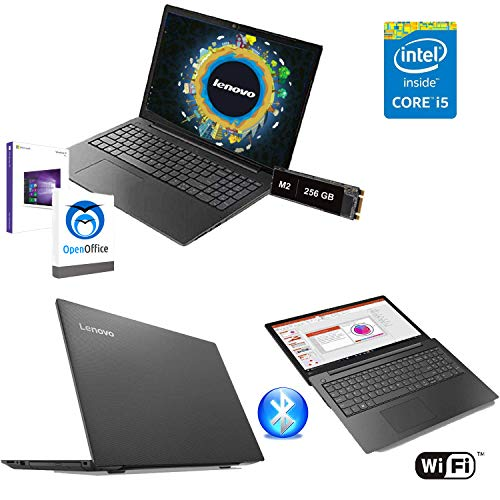 Notebook Pc Portatile Lenovo,Display full hd 15.6',intel i5 8250u 8°Gen,SVIDEO 2GB/Ram 8Gb Ddr4,Ssd M.2 256Gb,Hdmi,3xUSB 3.0,Lettore Card,jack cuffie,Wifi,Bluetooth,Open Office,Windows 10 64 bit